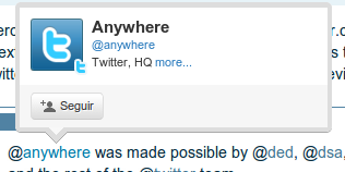 Que es el Twitter @Anywhere API?