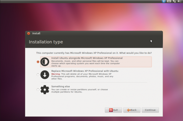 Ubuntu junto con windows